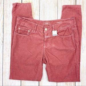 New CLOSED Pink Corduroy Skinny Pants